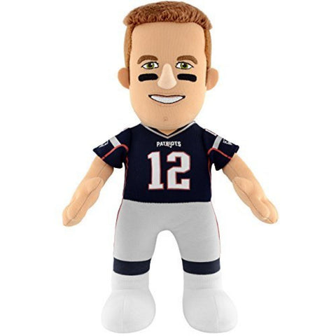 "NFL New England Patriots Tom Brady 10"" Player Plush Doll by Bleacher Creatures"