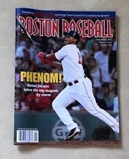 Sept 2017 Fenway Park Boston Baseball Red Sox Program Scorecard Rafael Devers