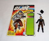 1984 Hasbro GI Joe ARAH Major Bludd Figure Cardback Complete Peach Filecard