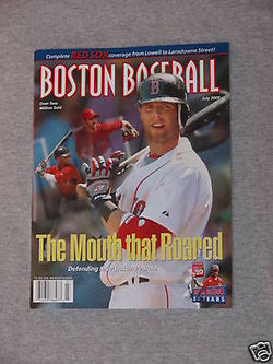 July 2009 Fenway Park Boston Baseball Red Sox Program Scorecard Pedroia