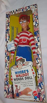 1991 Mattel Toys Where's Waldo Series Wenda Doll 18 Inch Boxed New FREESHIP