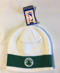 NBA Boston Celtics Winter Knit Hat Beanie Skull Cap White Color FREESHIP