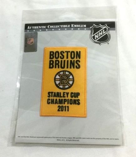 Official 2011 Stanley Cup Champions Boston Bruins Garden Banner Patch Team Issue