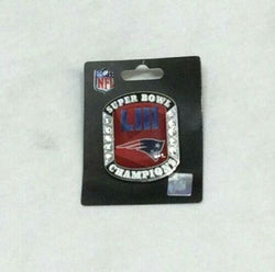 NFL New England Patriots Super Bowl 53 World Champions Pin Ring Style FREESHIP