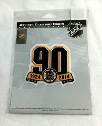 Official NHL Boston Bruins 90th Anniversary Jersey Patch Garden Orr Bourque
