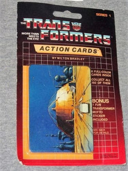 1986 G1 Transformers Action Cards Cello Blister Pack Cybertron Sealed FREESHIP