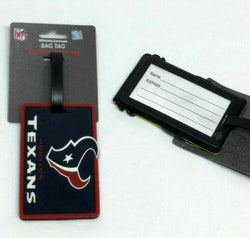NFL Houston Texans Luggage Tag Travel Bag ID Golf Tag FREESHIP