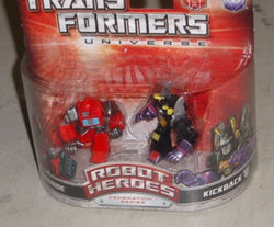 2008 G1 Transformers Robot Heroes Ironhide / Kickback Figure 2 Pack Sealed New