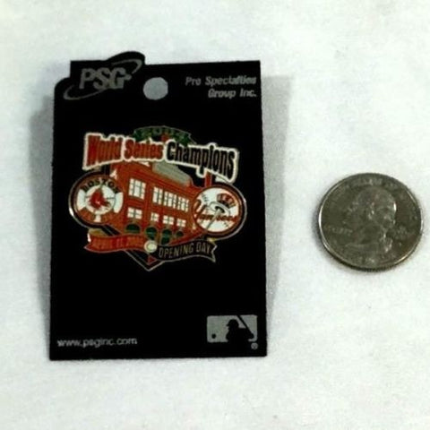 Boston Red Sox New York Yankees 2005 Opening Day Pin Ring Ceremony 2004 Champs