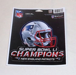 60d0fe06 New England Patriots Superbowl 51 World Champions Helmet Logo Decal Sticker
