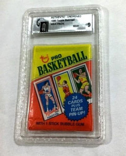 RARE 1980 Topps Basketball Sealed Wax Pack GAI 9 or PSA ? Bird Magic Rc Rookie