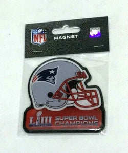 New England Patriots Super Bowl 53 Champions Flat Magnet Helmet Style FREESHP