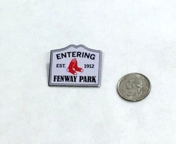 Official MLB Boston Red Sox Entering Fenway Park Street Sign Logo Pin FREESHIP