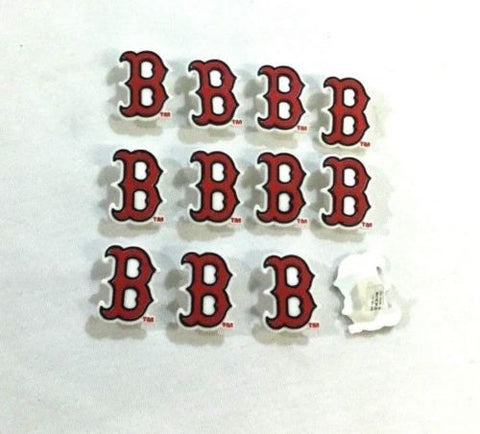 "Boston Red Sox ""B"" Sox Logo Rubber Charm Arts Crafts Type Lot FREESHIPPING"