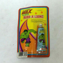 Marvel Comics Incredible Hulk Bubb-A-Loons Plastic Balloons Sealed Carded MOC