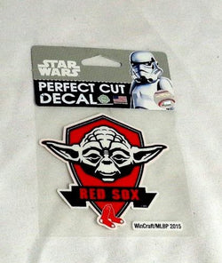 MLB Boston Red Sox Star Wars Yoda Jedi 4x4 Perfect Cut Sticker Decal FREESHIP