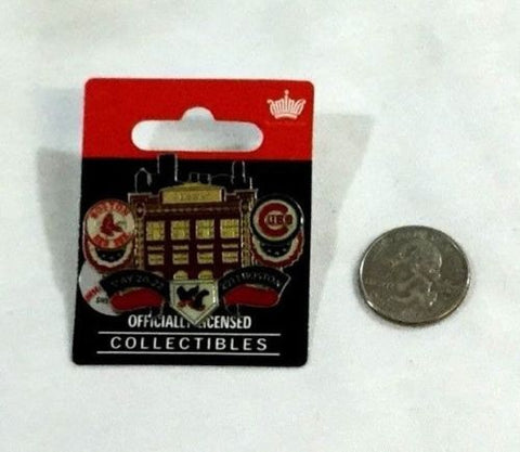 2011 Boston Red Sox Chicago Cubs Pin Fenway Park Duel Logo FREESHP