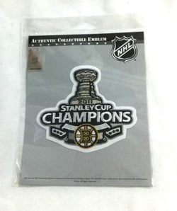 Official 2011 Stanley Cup Champions Boston Bruins Trophy Jersey Patch FREESHIP
