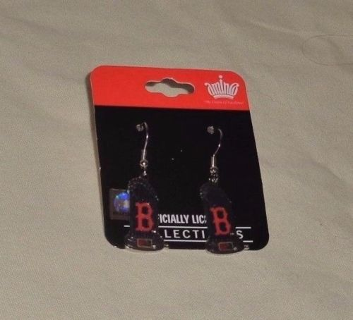 NEW Boston Red Sox Earrings World Series Champions Trophy J Hook Type FREESHIP