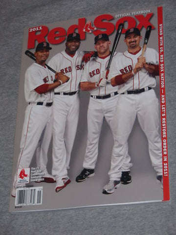 2011 Boston Red Sox Team Issue Yearbook Gonzalez Crawford FREESHIP