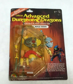 1983 LJN Advanced Dungeons And Dragons Male Titan Figure MOC Cardback Sealed