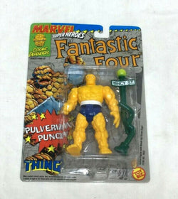 1992 Toybiz Marvel Super Heroes Fantastic 4 Thing Pulverizing Punch Figure MOC