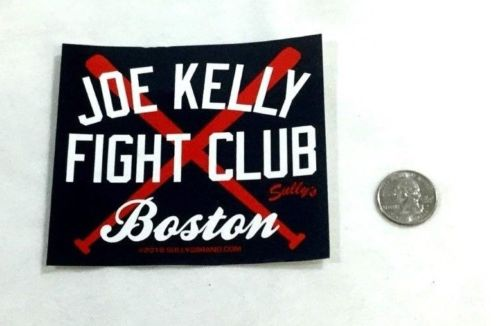 Boston Red Sox Theme Joe Kelly Fight Club Bumper Sticker Decal Yankee Fighter!