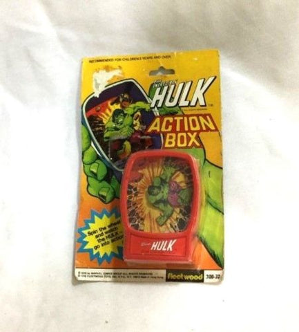 1978 Vintage Marvel Comics Incredible Hulk Action Box Toy MOC Sealed Carded MISP