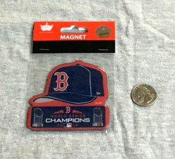 New Boston Red Sox 2018 World Series Champions Magnet Hat Cap Logo Type FREESHP