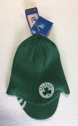 NBA Boston Celtics Winter Knit Hat Cap Beanie Toque Visor Brim FREESHIP