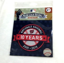 2015 Washington Nationals 10th Anniversary 10 Years Jersey Patch FREESHIP