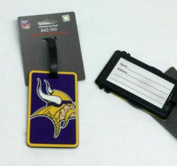 NFL Minnesota Vikings Luggage Tag Travel Bag ID Golf Tag FREESHP
