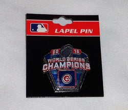 MLB Official 2016 World Series Champions Trophy Pin Chicago Cubs FREESHIP