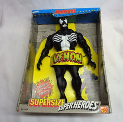"1991 Toybiz Marvel Comics Spiderman Venom Super Size 14"" Figure Boxed FREESHIP"