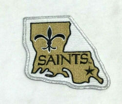 Official NFL New Orleans Saints Team Logo Patch Jacket Jersey FREESHIP