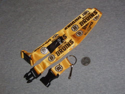NHL Boston Bruins Lanyard Pin Keychain Break Away Type (Gold) FREESHIP