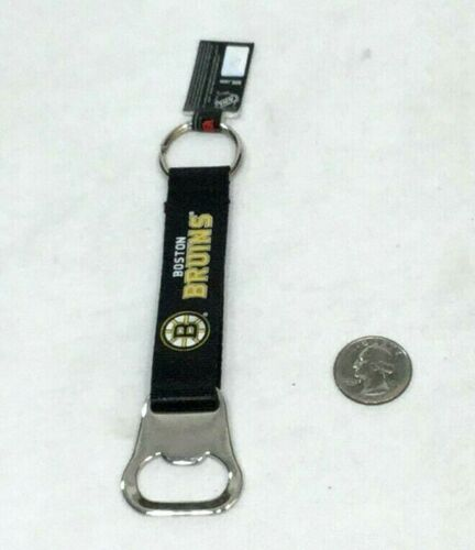 NHL Boston Bruins Nylon Bottle Opener Type Keychain Team Logo FREESHIP