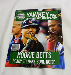 September 2017 Yawkey Way Report Red Sox Program Magazine Mookie Betts Ramirez
