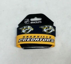 NHL Nashville Predators 2 Pack Bracelet Wrist Bands Set Rubber PVC Type FREESHP