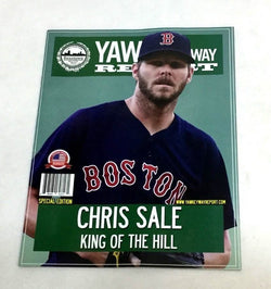 September 2018 Yawkey Way Report Red Sox Program Magazine Chris Sale Cover