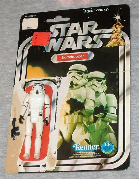 1978 Vintage Star Wars Stormtrooper Figure 12 Back Cardback Weapon Complete