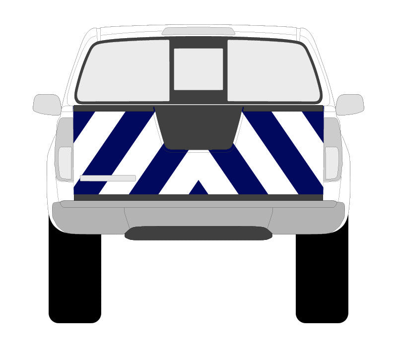 Reflective chevron decal for 2016 Nissan Frontier | KLAR™ Canada