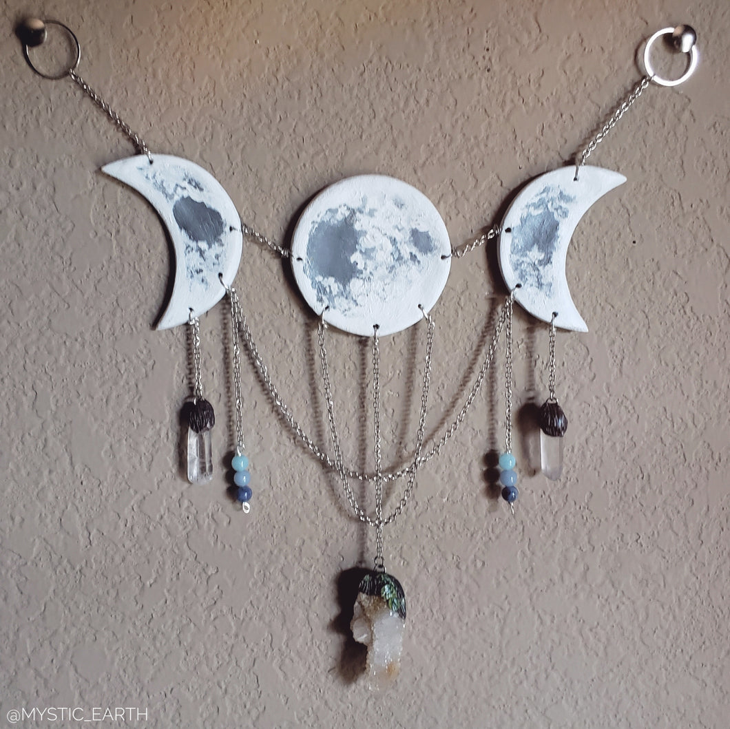 Gray Moon Goddess Wall Hanging: Spirit Quartz