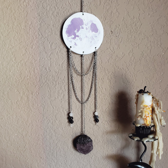 Lavender Full Moon Wall Hanging: Ruby