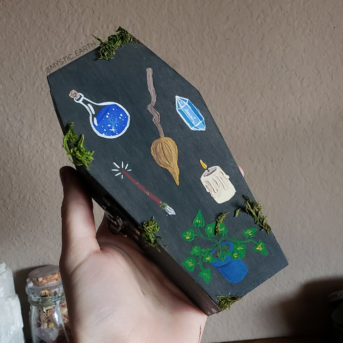 Hidden Gem Coffin Box: Plant Witch