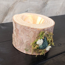 Wooden Tealight Holder: Kambaba Jasper