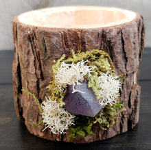 Wooden Tealight Holder: Amethyst 2