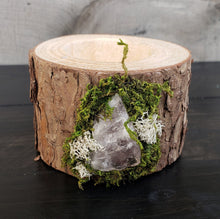 Wooden Tealight Holder: Rose Quartz 2