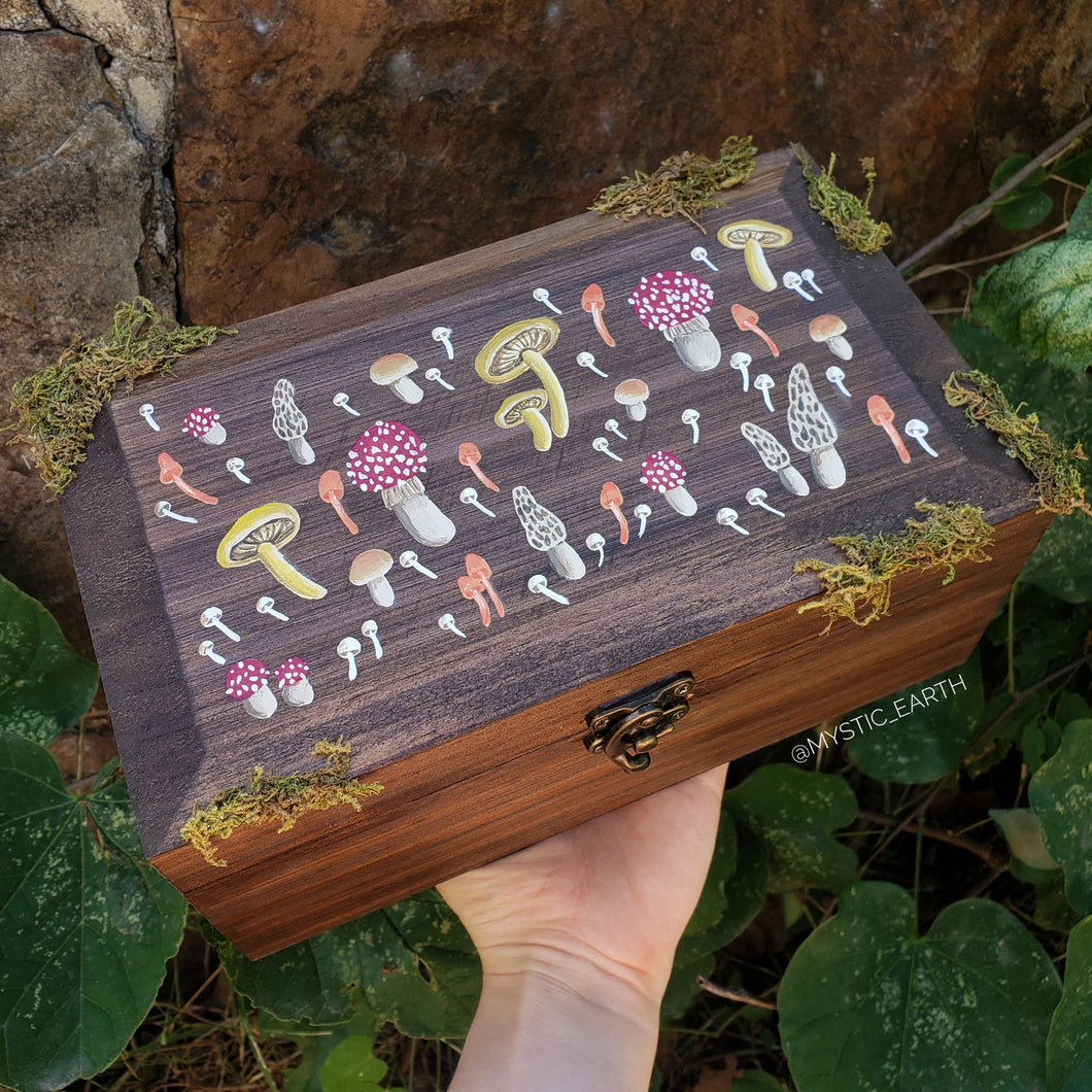Amanita Mushroom Hidden Gem Box - Large