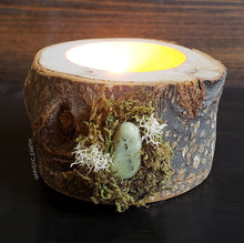 Green Jasper Wooden Tealight Holder